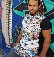 Camiseta Oversized LDY Star. R  57 d578353bc6c
